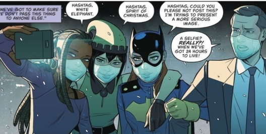 Batgirl and her friends take a selfie